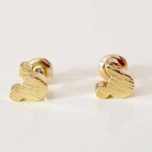 Jewelry - Gold Tone Mickey Mouse Stud Earrings nwt